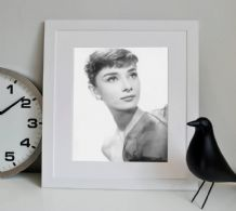 Audrey Hepburn Icon - Decorative Arts, Prints & Posters, Wall Art Print, Poster Any Size - Black and White Poster